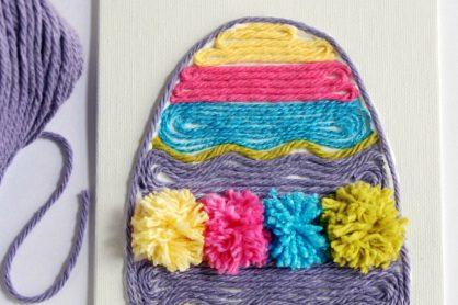 Easter Egg Yarn Art Kids Crafts