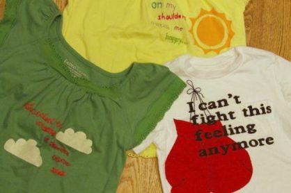 Make Your Own Mixed-Media Lyric T-shirt