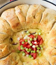 Skillet Pull-Apart Bread With Cheesy Dip