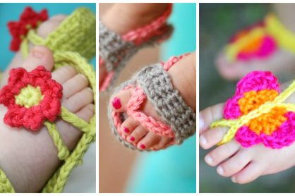 15 Cute Crochet Baby Sandals begging to be made!