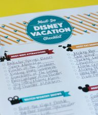 Disney Vacation Checklist for Families