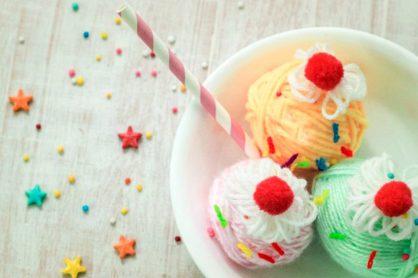 Playtime Yarn Wrapped Ice Cream Sundae Craft