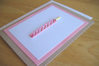 Birthday Candle Stitched Card for World Card Making Day