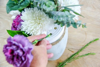 flower arranging made easy with this diy