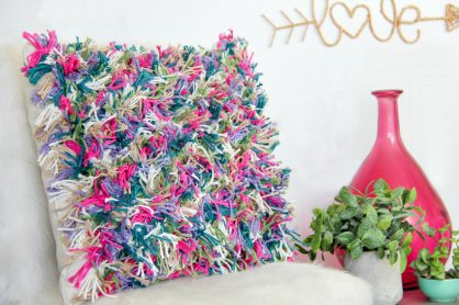 boho diy cushion