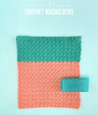 DIY colorblock crochet washcloth pattern