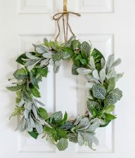 how to make an evergreen front door wreath