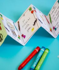 Show dad or granddad how awesome he is by making him a personalized Zig-Zag Mini Book for Father's Day!