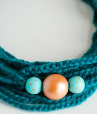 Crochet Chain Stitch Beaded Necklaces Tutorial