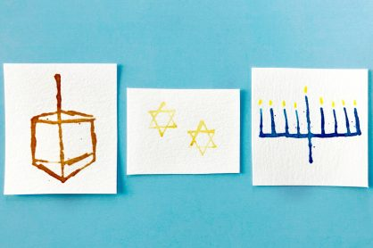 DIY Watercolor Hanukkah Cards
