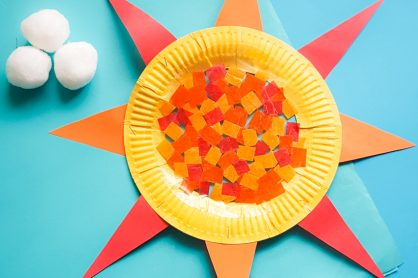 What better way to catch the sun's rays than with this Easy Paper Plate and Contact-Paper Suncatcher Craft. Layer tissue paper for a stained-glass effect!