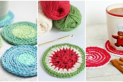 9 DIY Crochet Coasters Ideas
