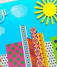 Washi Tape City Skyline Card