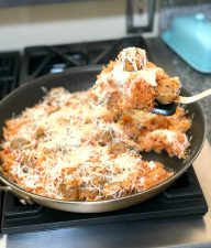 Italian Pizza Meatball Skillet
