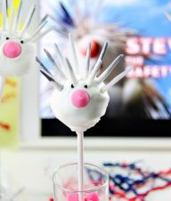 porcupine cake pops inspired by Steve from Wonder Park