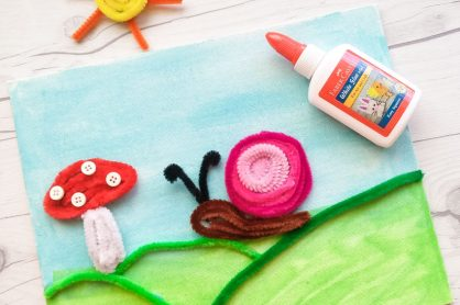 Looking for some inexpensive, cute ways to bring spring indoors?  This adorable 3D Pipe Cleaner Spring Garden Art on Canvas is a fun little project for kids