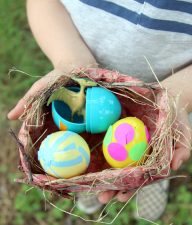DIY Dinosaur Egg Nest STEAM Craft