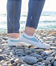 painted mermaid shoes summer craft