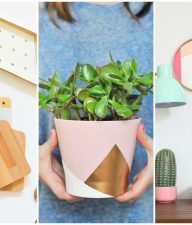 Color Blocking DIY Home Decor Projects