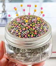 DIY pin cushion jar craft