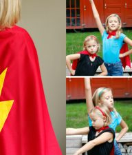 DIY No-Sew Superhero Cape