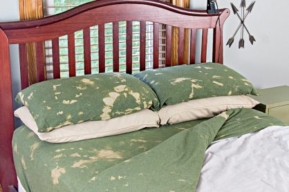 camouflage tie-dye sheets for boys bedroom