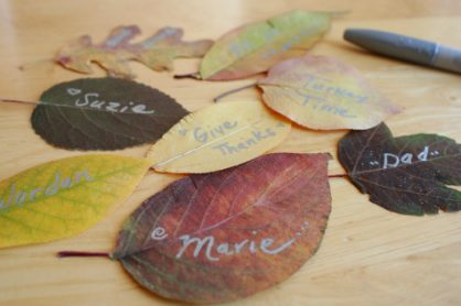 Autumn Leaf Writing
