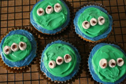 Alien Cupcakes from Toy Story