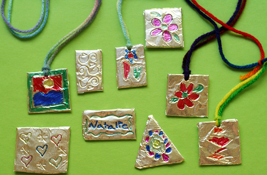 Foil Pendant Craft For Kids Make And Takes
