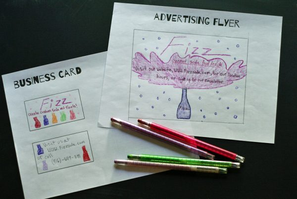 Creative food truck activity for kids