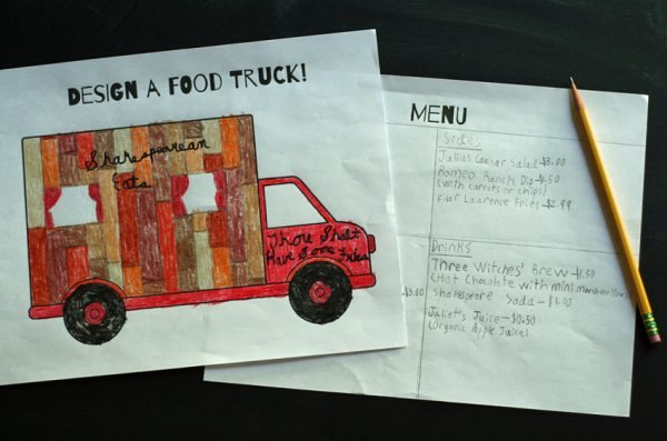 Food truck art & writing project