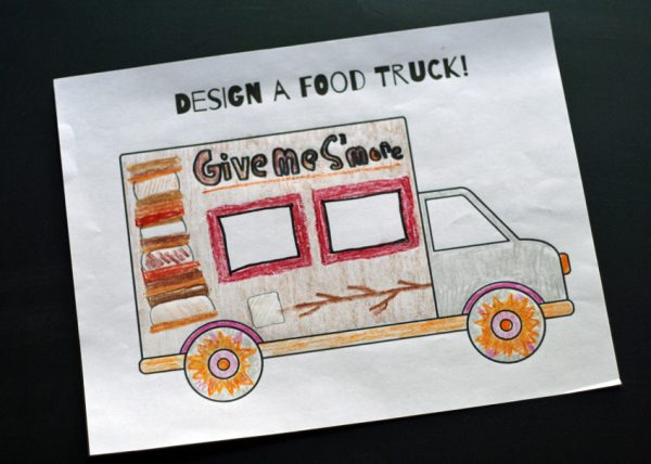 Food truck art project for kids