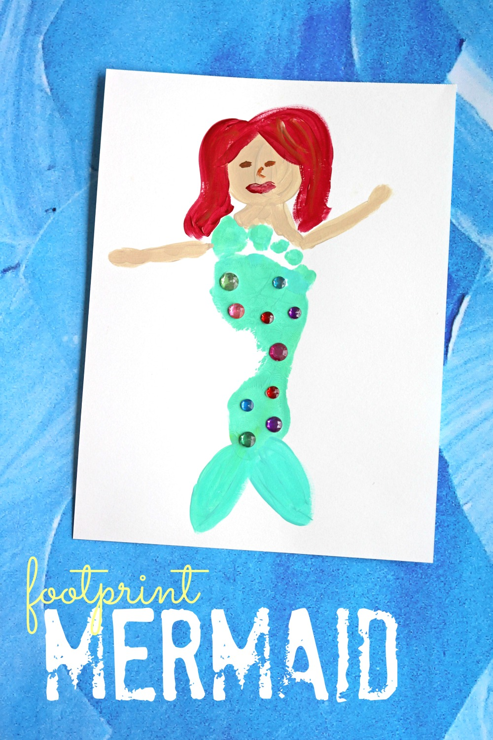 Footprint Mermaid Keepsake Idea | Make and Takes