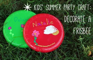 Kids' Party Craft: Decorating Frisbees