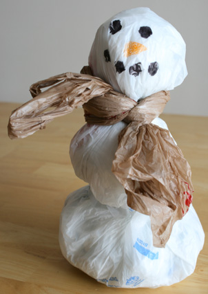 Recycled Grocery Bag Snowman Make And Takes