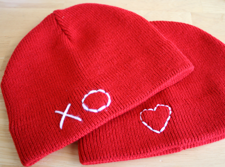 Hearts on Snow Hats