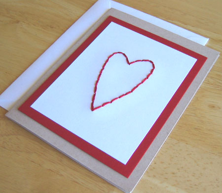 Heart Stitched Card