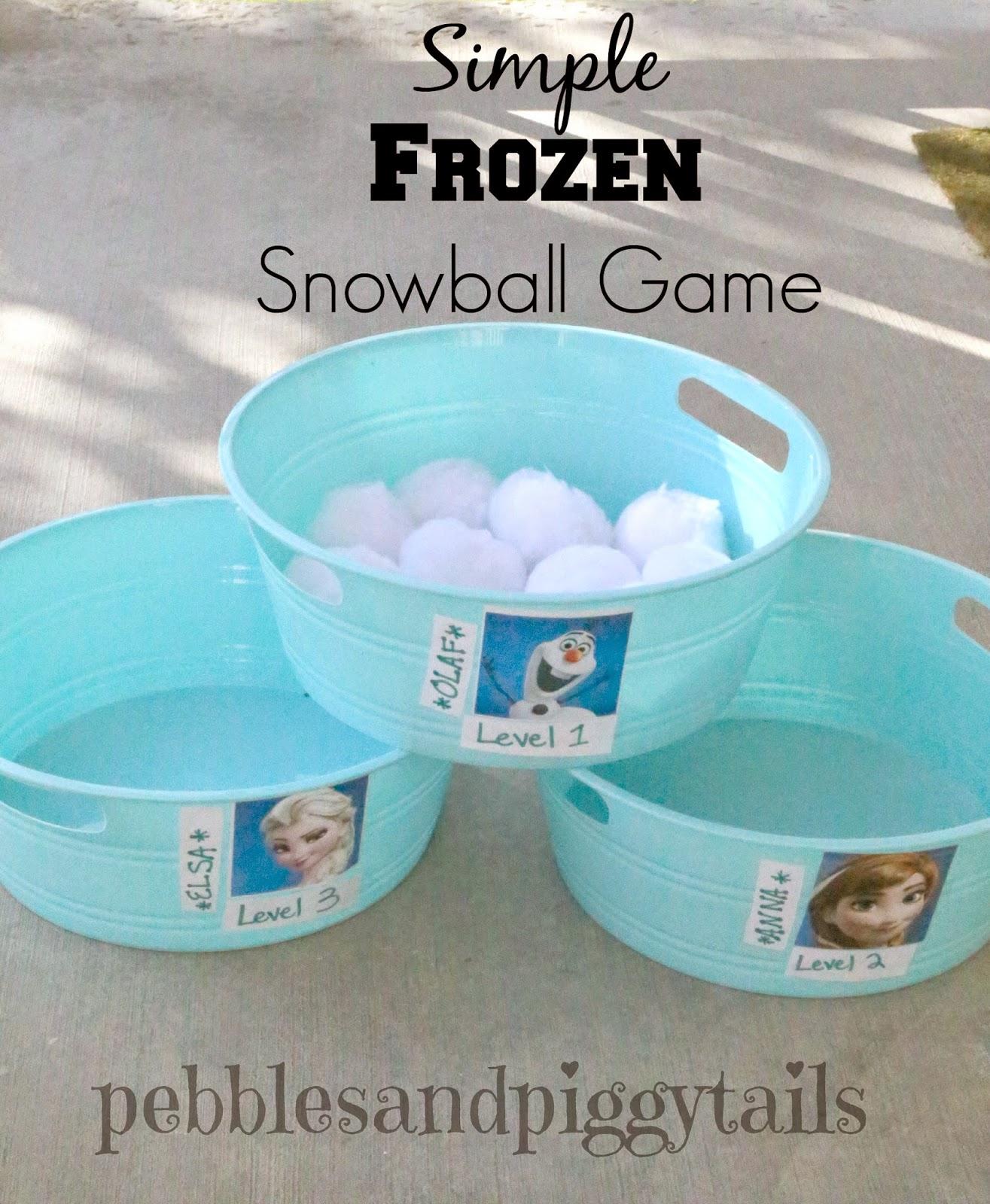 Frozen kinderfeestje sneeuwbalspel