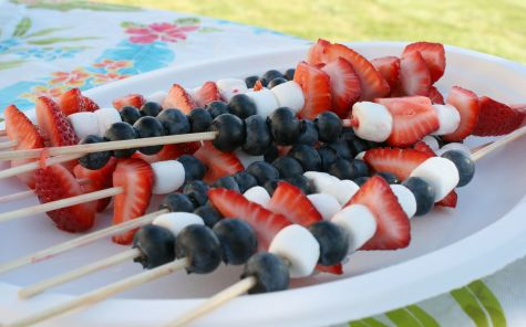 Red While and Blue Skewers