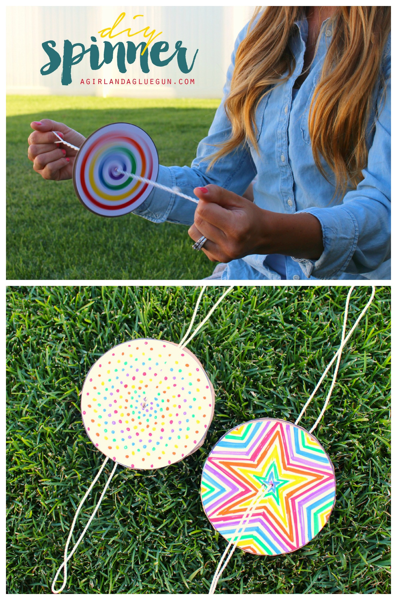 DIY Paper Spinner | Make and Takes