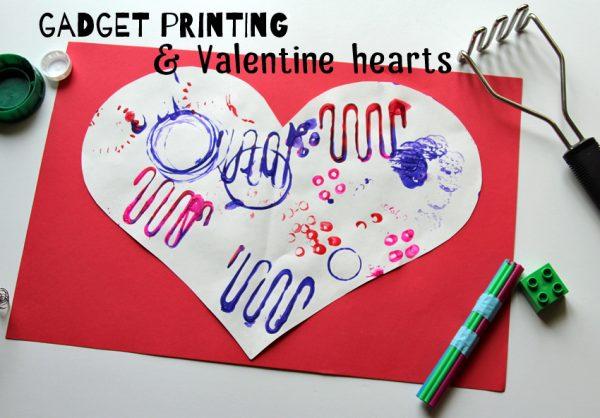 Printing on jumbo valentine hearts