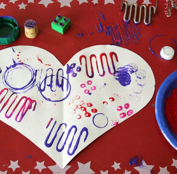 Gadget printing on jumbo valentine hearts