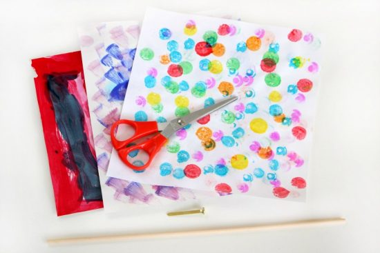 Garden Pinwheel Craft for Kids! Turn your child's artwork into a colorful garden craft