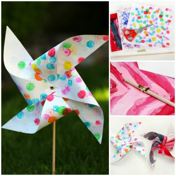 Garden Pinwheel Craft for Kids