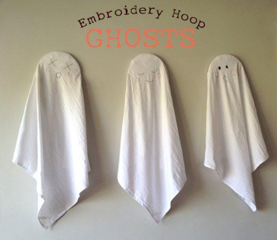 Embroidery Hoop Ghosts