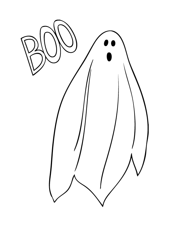 Halloween Coloring Pages Make And Takes Ghost Coloring Page