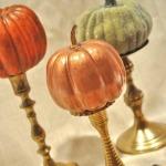 Gilded Pumpkin Centerpiece