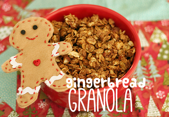 Bake Gingerbread Granola with the Kids @Makeandtakes.com