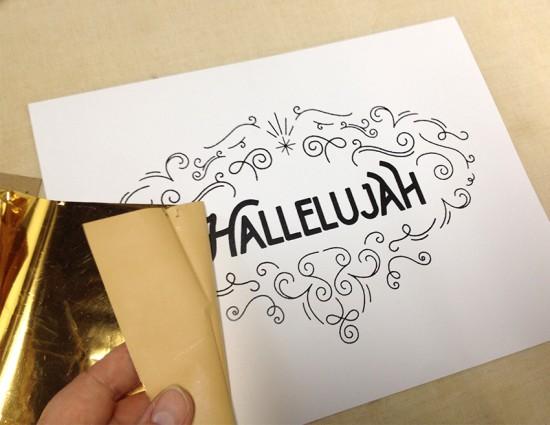 gold foil hallelujah 1
