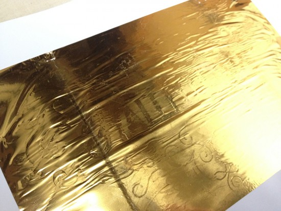 gold foil hallelujah 4